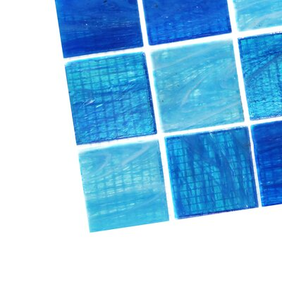 Aqua 2 x 2 Glass Mosaic Tile in Ocean Blue