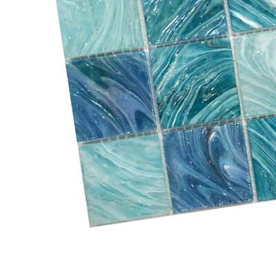 Aqua 2 x 2 Glass Mosaic Tile in Sky Blue