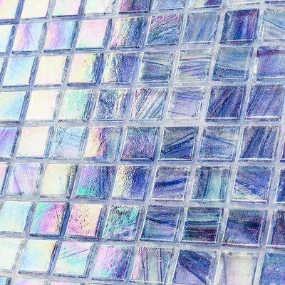 Breeze 0.62 x 0.62 Glass Mosaic Tile in Blue