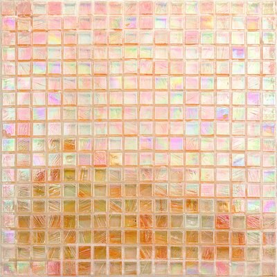 Breeze 0.62 x 0.62 Glass Mosaic Tile in Orange