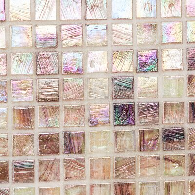 Breeze 0.62 x 0.62 Glass Mosaic Tile in Pink/Purple
