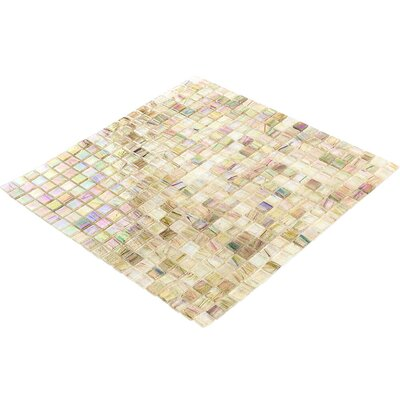 Breeze 0.62 x 0.62 Glass Mosaic Tile in Green/Yellow/Brown