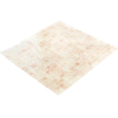 Breeze 0.62 x 0.62 Glass Mosaic Tile in Cream/Pink