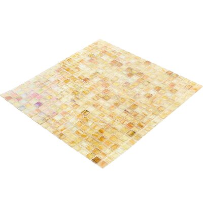 Breeze 0.62 x 0.62 Glass Mosaic Tile in Yellow/Orange