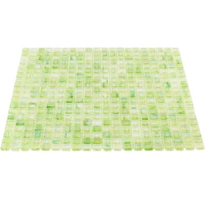 Breeze 0.62 x 0.62 Glass Mosaic Tile in Green/Yellow