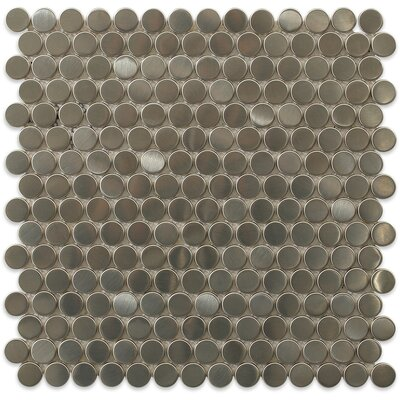 Stainless Steel 0.75 x 0.75 Metal Mosaic Tile in Brushed Silver