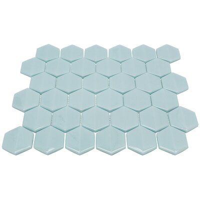 Recoup Recycled 3 x 6 Glass Mosaic Tile in Green