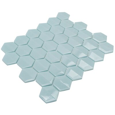 Recoup 11.75 x 10.75 Glass Mosaic Tile in Green