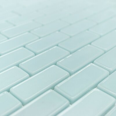 Recoup 3 x 6 Glass Mosaic Tile in Green
