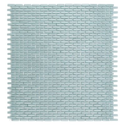 Recoup 11.75 x 10.87 Glass Mosaic Tile in Green