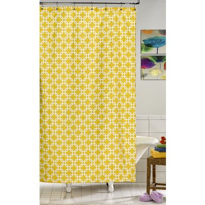 Annmarie Shower Curtain Color: Yellow