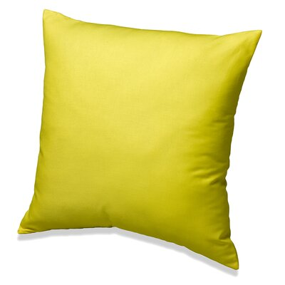 Solid Cotton Throw Pillow Color: Citrus Yellow