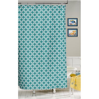 Annmarie Shower Curtain Color: Turquoise