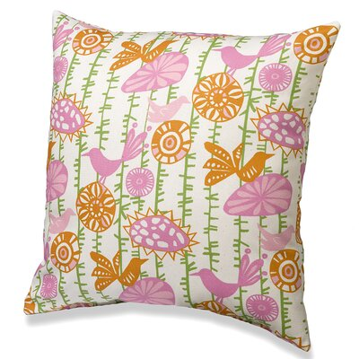 Menagerie Cotton Throw Pillow Color: Pink/Orange