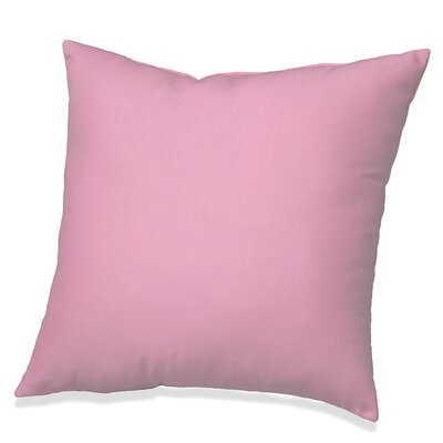 Solid Cotton Throw Pillow Color: Pink