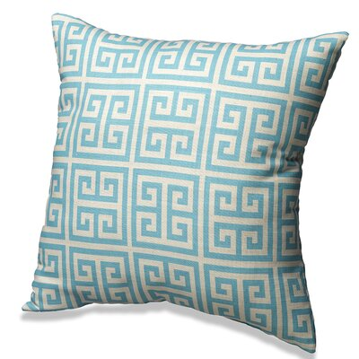 Greek Key Cotton Throw Pillow