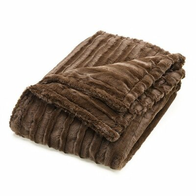 Minky Faux Fur Throw Blanket