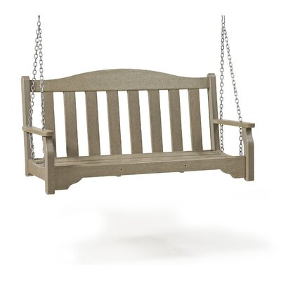 SIESTA Quest Porch Swing - Finish: Weathered Wood, Size: 4' W
