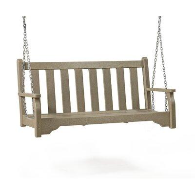 SIESTA Classic Porch Swing - Finish: Hunter Green, Size: 5' W