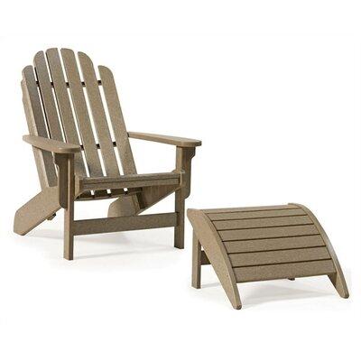 SIESTA Bayfront Adirondack Chair - Finish: Slate Gray