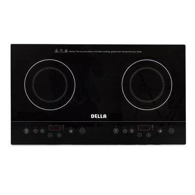 """1800W Dual 28"""" Induction Cooktop with 2 Burners 048-GM-48249"""