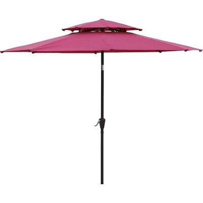 9 Market Umbrella Fabric: Dark Red