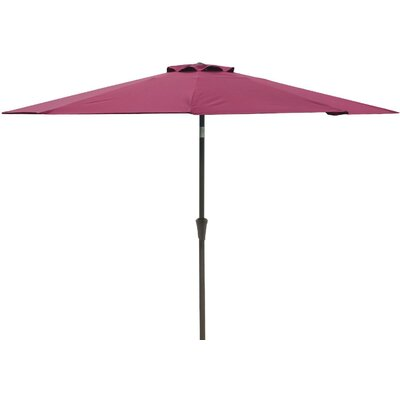 9 Market Umbrella Fabric: Red-Wine