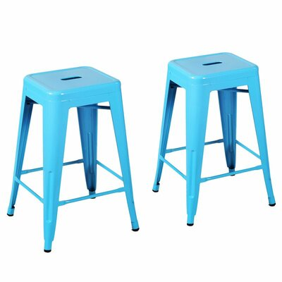 24 Bar Stool Finish: Light Blue
