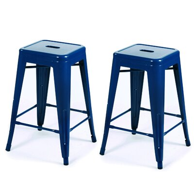 24 Bar Stool Finish: Dark Blue