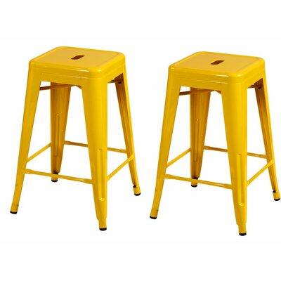 24 Bar Stool Finish: Yellow