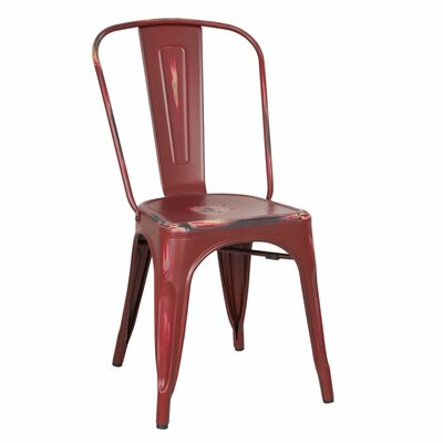 Metal Stacking Side Chair Finish: Red