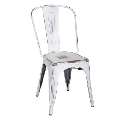 Metal Stacking Side Chair Finish: White