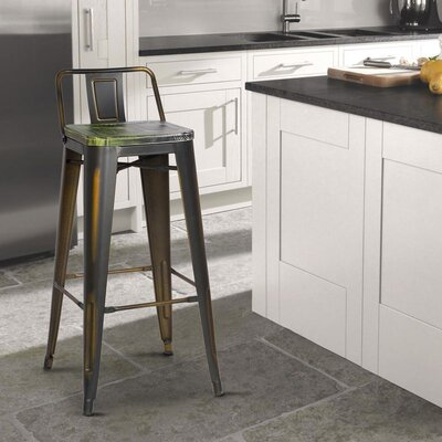 Kensington 30 Bar Stool Finish: Green