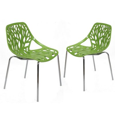 Crawley Tree Cucoloris Side Chair Finish: Green