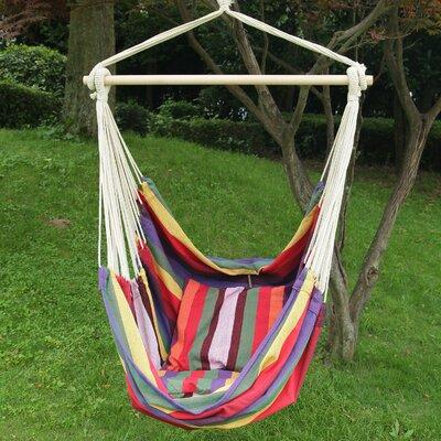 Merrillan Rainbow Striped Outdoor Chair Hammock