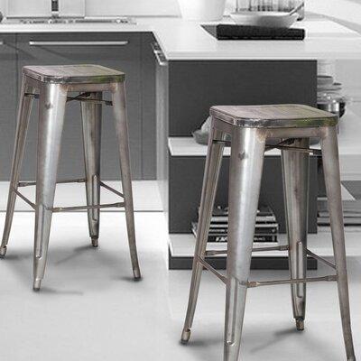 30 Bar Stool Finish: Silver/Gray