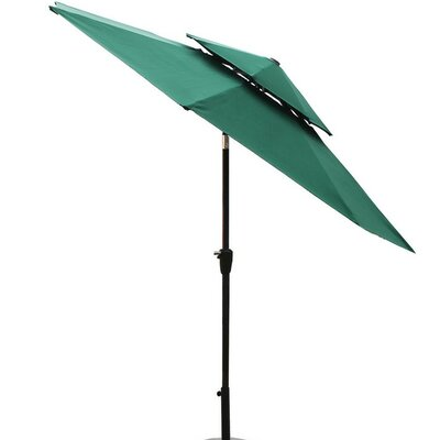 9 Dolan Outdoor Market Umbrella Fabric: Dark Green