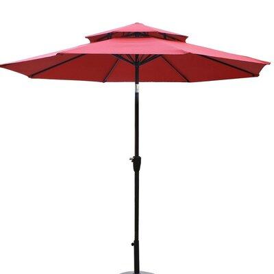 9 Dolan Outdoor Market Umbrella Fabric: Red