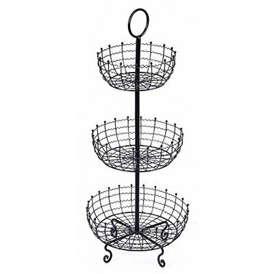 Ottoville 3 Tier Iron Fruit and Vegetable Basket