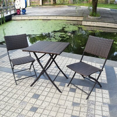 Isadora 3 Piece Bistro Set Color: Brown