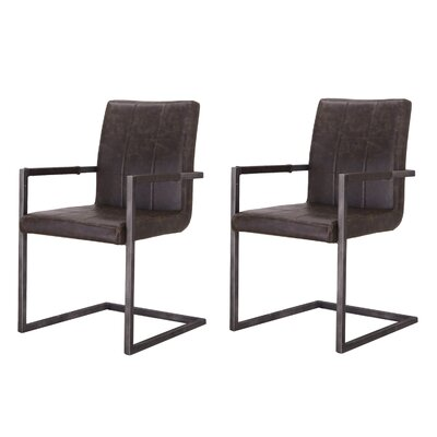 Alula Luxury Upholstered Dining Chair Color: Dark Gray