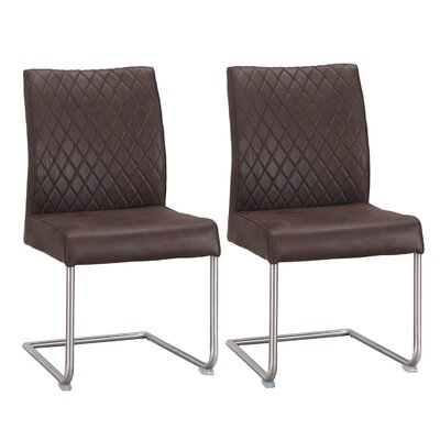 Novak Luxury Upholstered Dining Chair Color: Brown