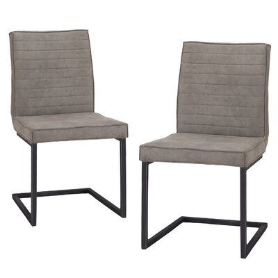 Zolan Luxury Upholstered Dining Chair Color: Gray