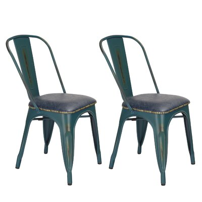 Prisha Metal Upholstered Dining Chair