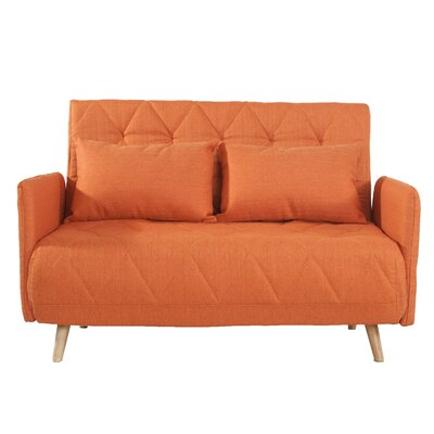 Lonan Fabric Fiber Sofa Bed Upholstery: Orange