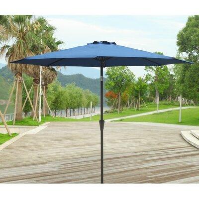 9 Market Umbrella Fabric: Blue