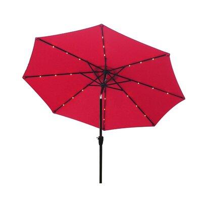 9 Octagonal Market Umbrella Color: Red