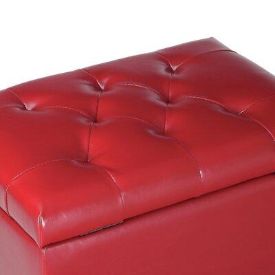 Lyndia Storage Leather Ottoman