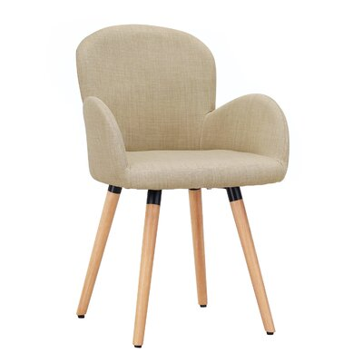 Vandusen Upholstered Dining Chair Upholstery Color: Light Beige