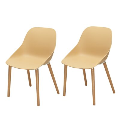 Sanor Beechwood Dining Chair Color: Warm Cream